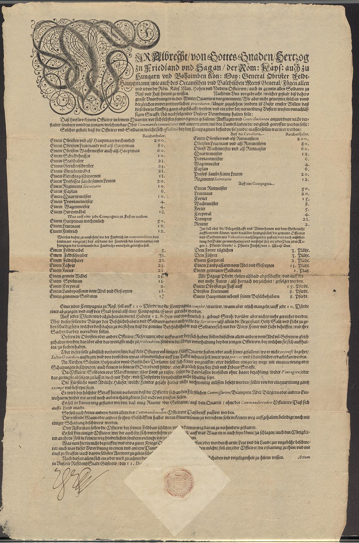 Vojenský řád Albrechta z Valdštejna, SOA Praha, RAV, sign. A-II-490/50, inv. č. 2002.