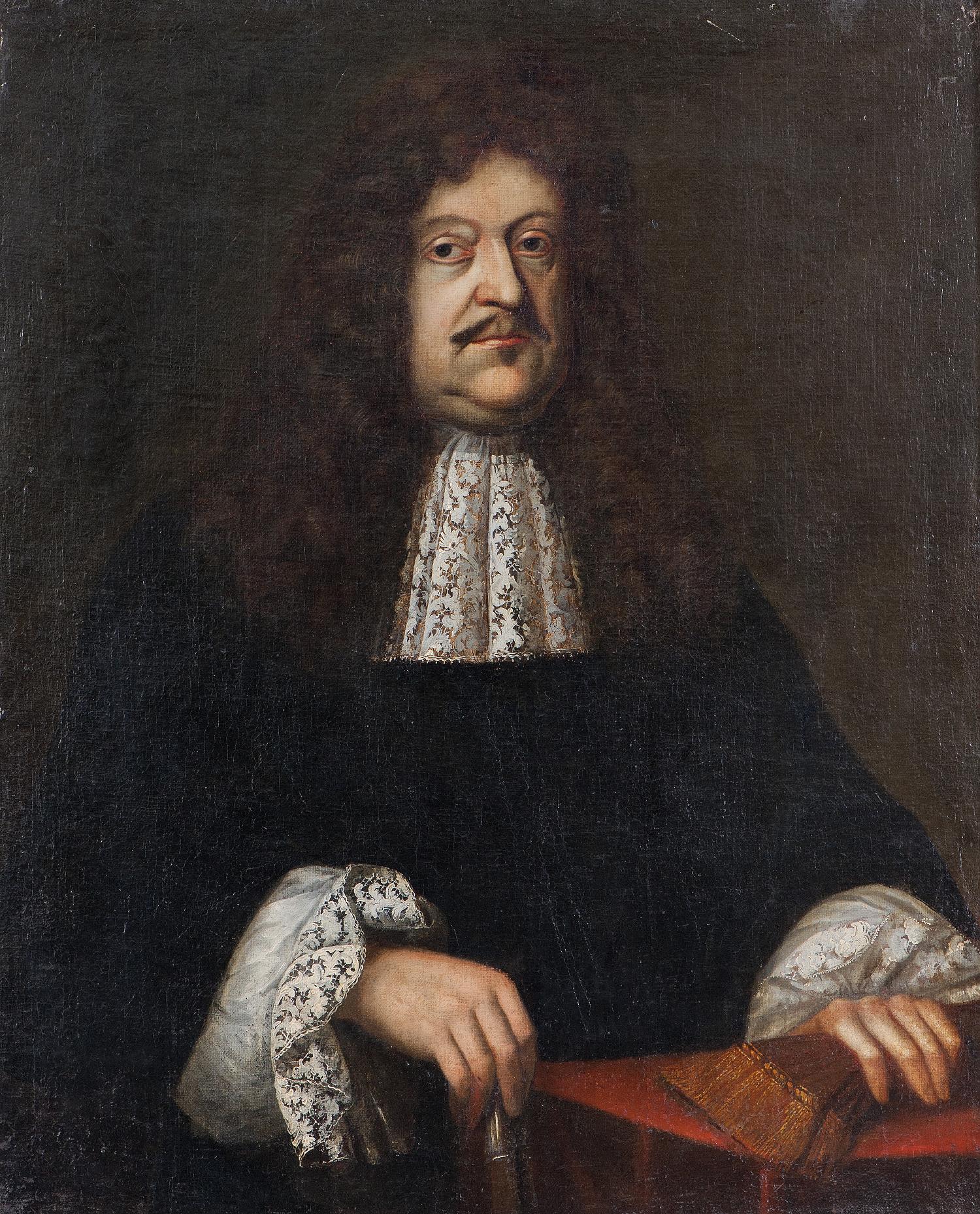 Anonym: Portrét Jana Severina Dirixe z Bruku a Rottenburku, olej na plátně, po 1680, GHMP M-1586