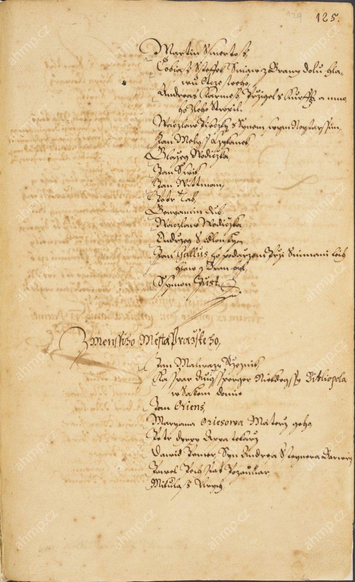 Petr Dirix, příslušník významné malostranské měšťanské rodiny Dirixů (Dyryxů, Dyrynků) z Brucku a Rottenbergu, je zapsán mezi emigranty z Malé Strany, kteří se vrátili do měst pražských se saským vojskem v letech 1631 a 1632, 13. 12. 1633, AMP, Sbírka rukopisů, rkp. 744, kniha dekretů Starého Města pražského, 1625–1635, f. 122r – výřez titulku, 125r–125v Petr Dirix odešel v době pobělohorské kvůli své víře do Pirny. Jeho synové narození v emigraci se ale později do měst pražských vrátili, konvertovali ke katolictví a jeden z nich, Jan Severín, se dokonce v letech 1680 až 1684 stal primasem na Starém Městě pražském.