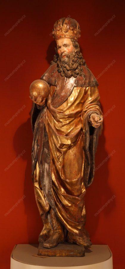 Jan Jiří Bendl: Sv. Zikmund, dřevo, polychromie, po 1660, MMP HD 2.154