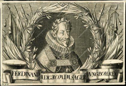 Podobizna Ferdinanda II., mědiryt, kol. pol. 17. století, MMP H 30.218