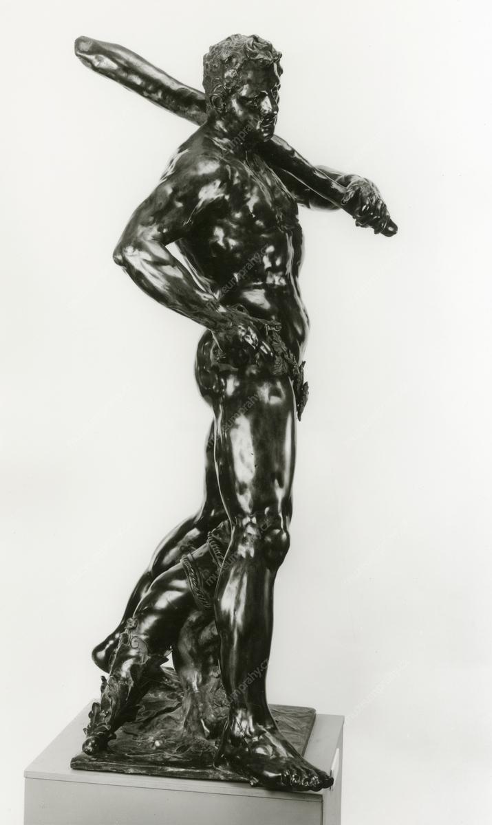 Adrian de Vries: Herkules s jablky Hesperidek, bronz, 1625–1626, H 014 576