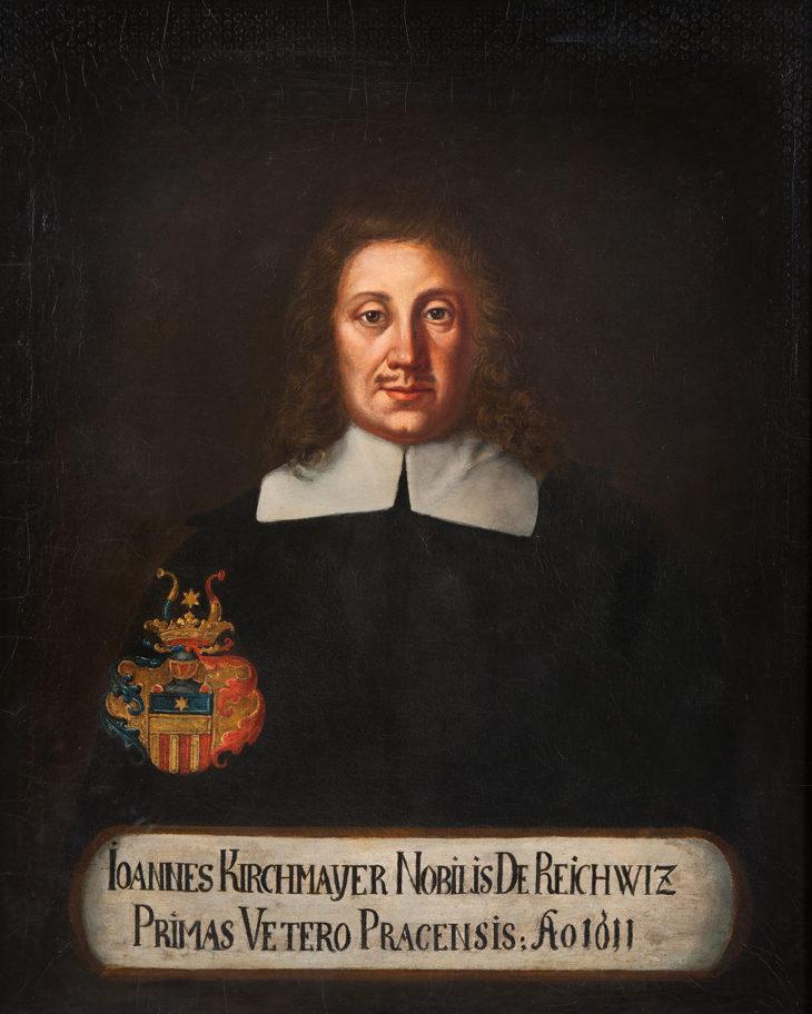 Anonym: Portrét Jana Kirchmayera z Rejchovic, olej na plátně, 1611, GHMP M-1589