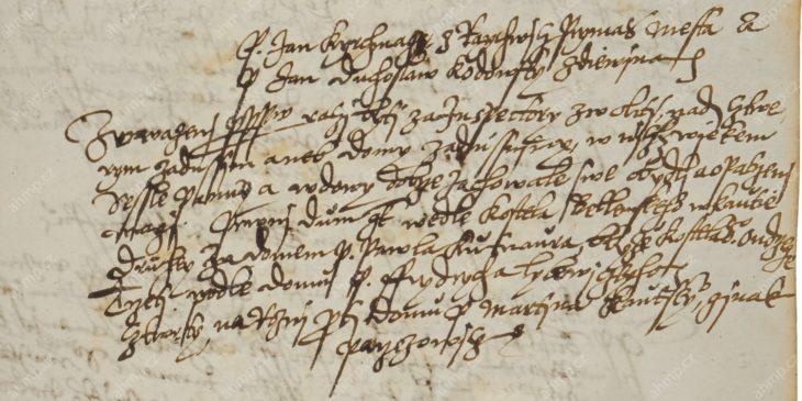 Jan Kirchmajer z Rejchvic se v době, kdy zastával post primasa Starého Města pražského, stal inspektorem záduší, 21. 10. 1615, AMP, Sbírka rukopisů, rkp. č. 1292, manuál radní věcí nesporných Starého Města pražského, 1615–1616, f. 158r