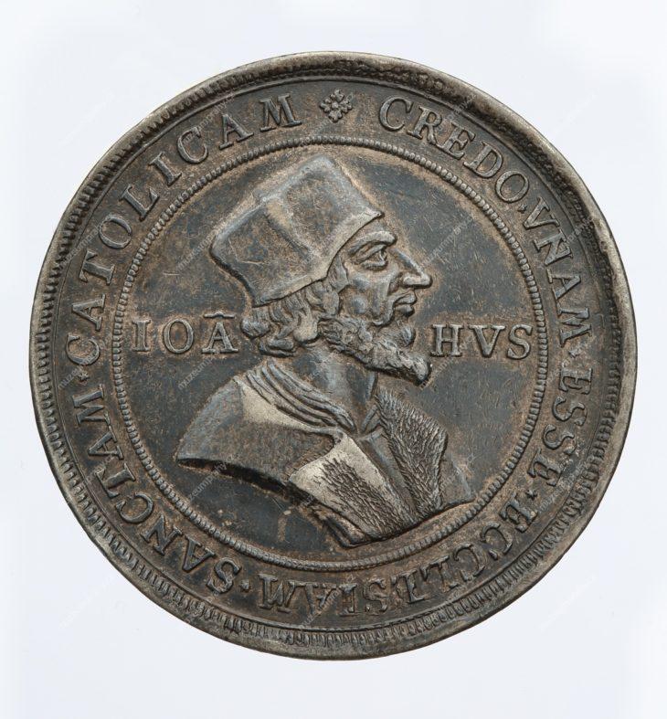 Medaile Mistr Jan Hus, Jáchymov, Hieronymus Magdeburger a jeho škola, stříbro, MMP H 16.179