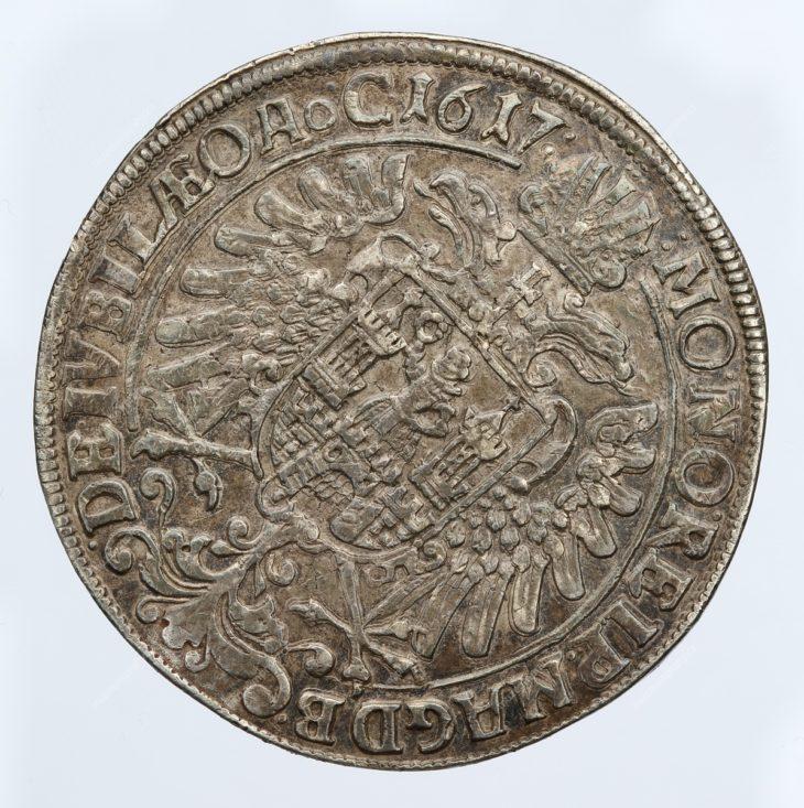 Jan Hus a Martin Luther (Pamětní tolar na zahájení evangelické reformace.), Magdeburg, Heinrich Meyer?, stříbro, 1617, MMP H 5.235