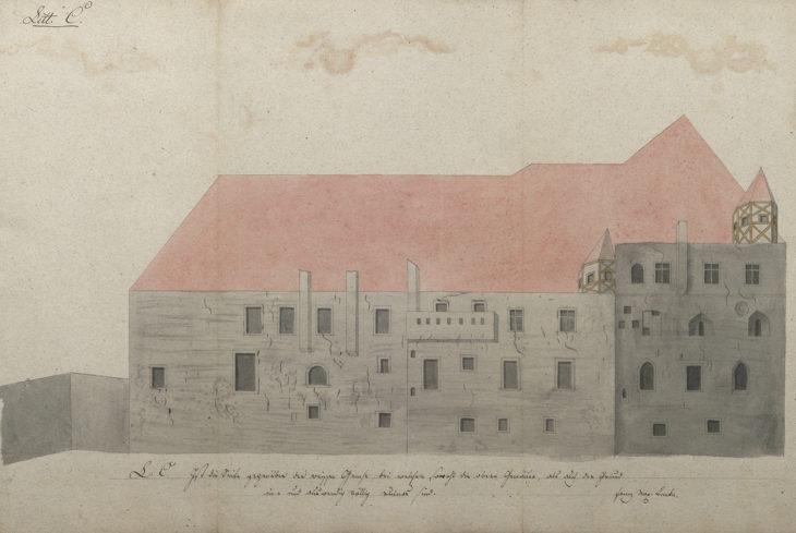 Franc Maxmilián Kaňka, Plány Karolina, kresba, 1711, AUK