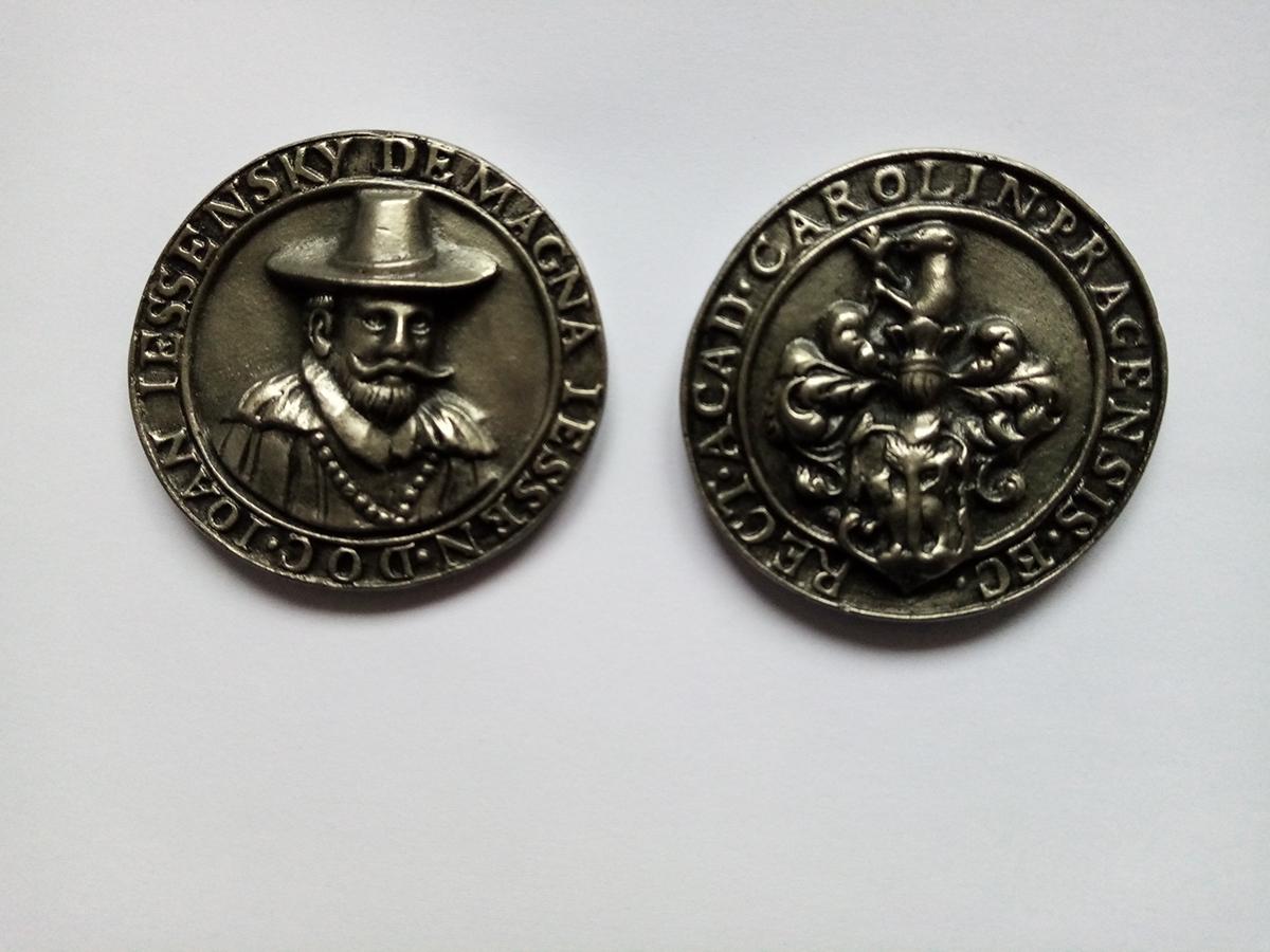 Rektorská medaile Jana Jesenského – Jesenia, 1618, Archiv UK, inv. č. 408