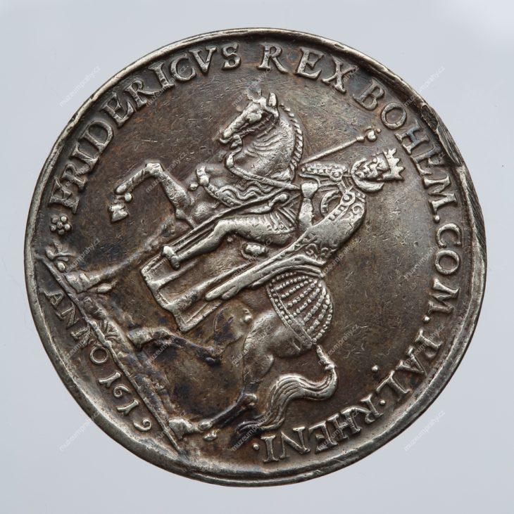 Medaile na počest českého krále Fridricha Falckého., Norimberk, Christian Maler, stříbro, 1619, MMP H 17.507