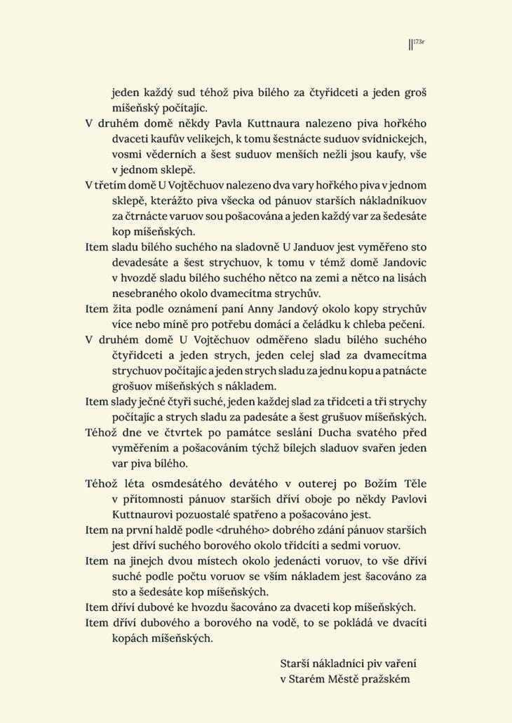 Pozůstalostní inventář Pavla Kutnaura, otce Jana a Pavla, 3. 6. 1589 / 3 prepis