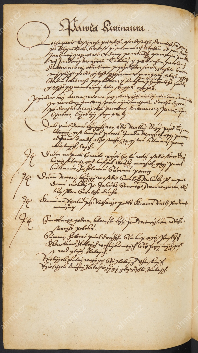 Pozůstalostní inventář Pavla Kutnaura, otce Jana a Pavla, 3. 6. 1589