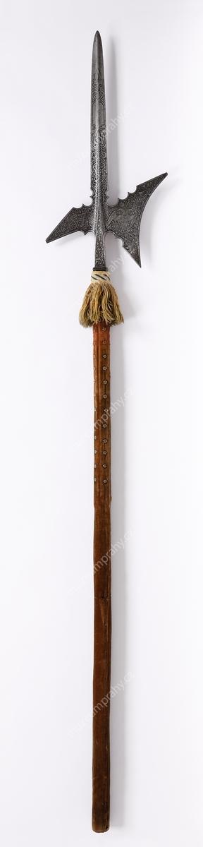 Halapartna dvorské stráže Rudolfa II., Augsburg (?), železo, gravírování, leptání, 1577, MMP H 12.875