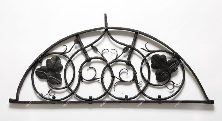 Podvalní mříž z domu čp. 125, Platnéřská, Praha, železo, 17. století, MMP H 17.125